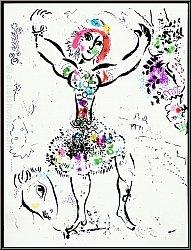 Marc Chagall: 'Die Jongleurin' La Jongleuse, 1960 Original Lithographie Mourlot - Werke   Originale   Drucke