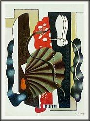Fernand Léger: Stillleben 'Nature morte' 1955, Mourlot - Druckgrafik | Lithographien | Bilder | Kubismus