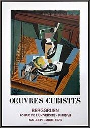 Juan Gris: Oeuvres Cubistes, Berggruen 1973, Lithographie - Mourlot-Plakate | Originale | Werke