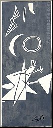 Georges Braque: Ciel gris II, Grauer Himmel, 1959, Farblithographie