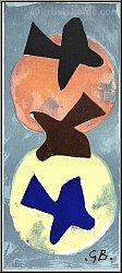 Georges Braque: Soleil et lune I, Sonne und Mond I, 1959, Lithographie
