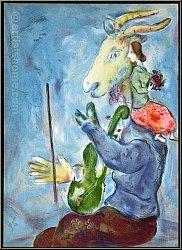 Marc Chagall 'Frühling' Lithographie von 1938 'Printemps' für Verve - Mourlot Lithographien | Werke | Drucke