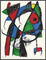 Joan Miro: »Frecher Kater« 1975, Original Lithographie I, Katze im Profil - Bilder | Originale | Werke | Druck