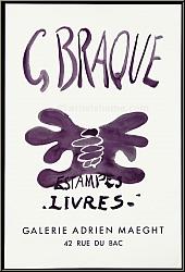 Georges Braque: Estampes - Livres, Adrien Maeght, Künstlerplakat