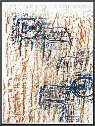 Max Ernst: Lithographie Adlerköpfe 'Têtes d'aigles' 1962 (Spies/Leppien 88) - Druckgrafiken | Werke | Mourlot