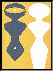 Hans (Jean) Arp: Farbholzschnitt Positiv-negativ Figuren, Variante Gelb, 1962, Originale | Werke | Druckgrafik