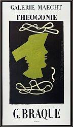 Georges Braque: Original-Ausstellungsplakat Theogonie, Galerie Maeght 1954, Mourlot - Künstlerplakate | Poster