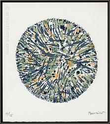 Alfred Manessier: Lithographie 'Schneeball' Boule de neige 1972, handsigniert, Arches Bütten - Winter | Werke
