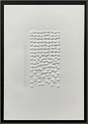Günther Uecker: Prägedruck, Nagelkopfprägung 1975, Nagelfeld, Nagelbild, Original-Nagelprägung | Werke