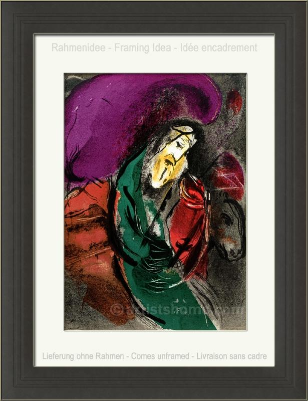 Marc Chagall: Jeremia, 1956, Original-Lithographie, Bilder ... Chagall Gouaches Jeremia