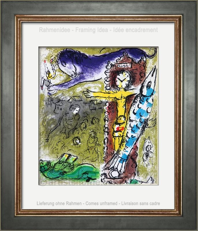 Marc Chagall: Christus in der Pendeluhr, 1957, Original-Lithographie ...