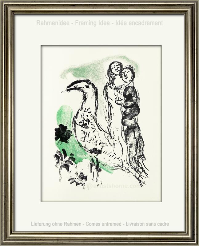 marc chagall liebespaar mit vogel 1969 original lithographie b tten originalgrafik kaufen. Black Bedroom Furniture Sets. Home Design Ideas