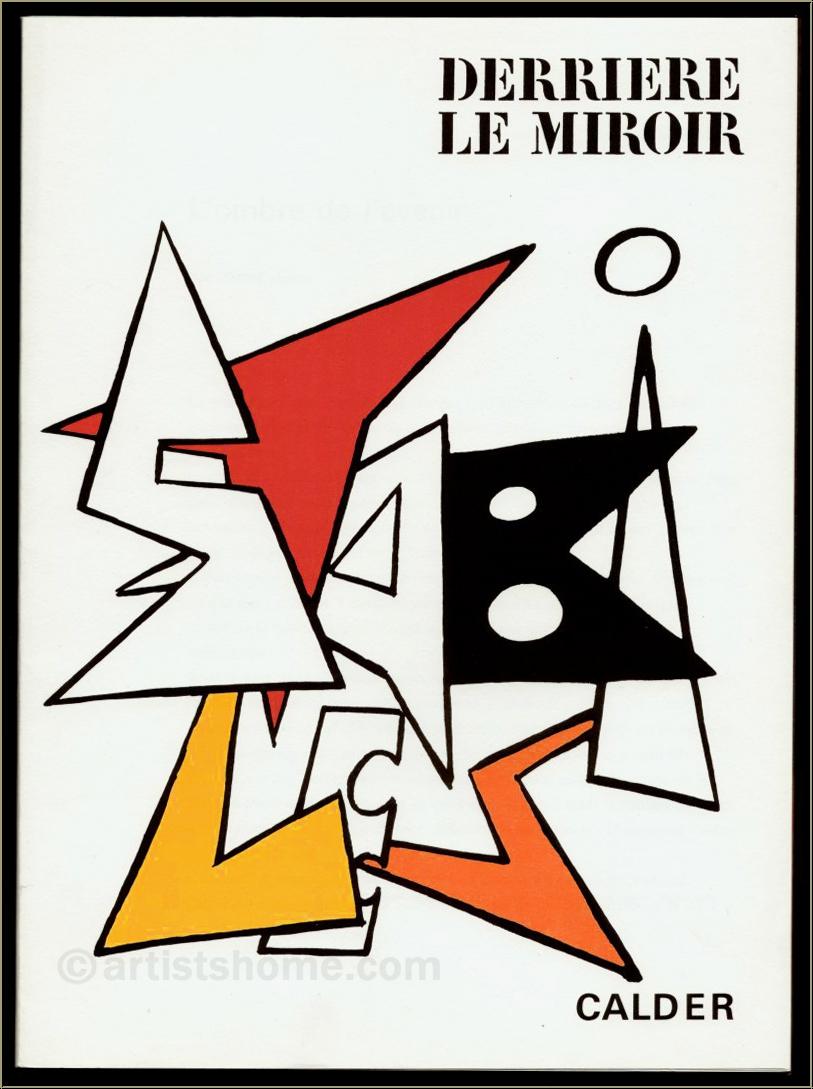 Alexander calder 1963 derriere le miroir 141 original for Derriere miroir