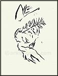 Marc Chagall: Der betende Hiob, Original-Lithographie, Bilder zur Bibel, 1960, Rückseite - Werke | Drucke