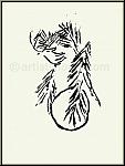 Marc Chagall: Rahab und die Kundschafter in Jericho, Verve Bilder zur Bibel 1960 - Rückseite der Grafik -