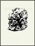 Marc Chagall: Boas erwacht und sieht Ruth zu seinen Füßen 1960, Originallithografie Verve Bibel, Rückseite