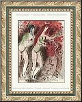 Marc Chagall: Adam und Eva und die verbotene Frucht, 1960, Bilder zur Bibel - Original-Lithographien, Werke