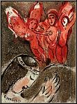 Marc Chagall: Sarah und die Engel, Original-Lithographie Bibel, 1960