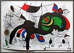 Joan Miro, 1971: Derriere le miroir 193/194 - die große doppelseitige Lithographie 'Der blühende Widder'