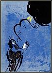 Marc Chagall: Moses Gesetzestafeln, Bibel 1956, Original Lithographie