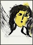 Marc Chagall: Der Engel, 1956, Original Lithographie Verve Bibel