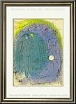 Marc Chagall: 'Mutter und Kind vor Notre-Dame' 1952, Original-Lithographie für Verve Vision de Paris