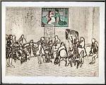 Noboru Sawai: Flötenkonzert, Friedrich der Große, Radierung signiert