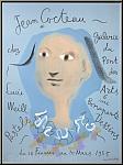 Jean Cocteau: Plakat Lucie Weill 1955, Galerie du Pont des Arts