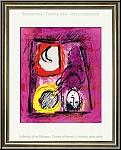 Marc Chagall: Original-Lithographie 'Das Fenster' La Fenêtre, 1957, Frau am Fenster mit Sonne und Mond | Werke
