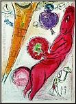Marc Chagall: Eiffelturm und Esel, Paris 1954, Original-Lithographie
