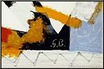 Georges Braque: Der gelbe Vogel 'L'oiseau jaune' 1959, große Farblithographie, im Stein monogrammiert