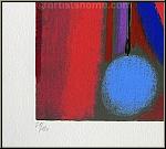 Max Ackermann: 'Glückliche Begegnung II - Strahlende Pforte', Farbsiebdruck, nummeriert, 120 Exemplare