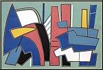 Alberto Magnelli: Original-Lithographie, Geometrische Abstraktion 1967