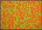 François Morellet: 40.000 Carrés Orange-Grün Serigraphie handsigniert Ausstellungsstück zum Sonderpreis