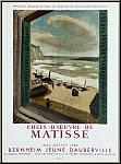 Henri Matisse: Plakat Chefs-d'oeuvre, 1958, Bernheim Jeune Dauberville