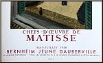 Henri Matisse: Originalplakat 'Chefs-d'oeuvre' Lithographie Blick aus dem Fenster, 1958 - Mourlot-Plakate