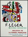 Fernand Léger: Plakat Oeuvres récentes, Maison de la Pensée, 1954