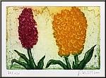 Jochen Kublik: Drei Hyazinthen, 2001, Radierung auf Bütten, signiert