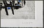 Pietro Consagra: Radierung, Abstrakte Komposition in Schwarz und Blau, 1962, signiert | Werke, Drucke, Grafik