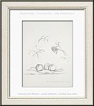 Alberto Giacometti: Original-Lithographie 'Fleurs' Arches Bütten, Mourlot 'Souvenirs et portraits d'artistes'