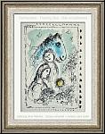 Marc Chagall: 'Blaues Pferd mit Paar' Cheval bleu au Couple, 1982, Original-Lithographie - Werke | Originale