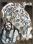 Marc Chagall: Moses und sein Volk, 1973, Die biblische Botschaft