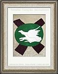 Georges Braque: Oiseau sur fond de X 1958, Original-Lithographie, weißer Vogel - Lithographien | Drucke