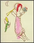 Marc Chagall: Daphnis und Chloe, 1960, Lithographie, Liebesgeschichte