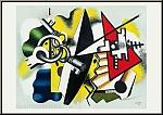 Fernand Léger: Nature morte aux clefs, 1955 - Lithographie, Mourlot
