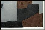 Serge Poliakoff: Radierung mit Aquatinta auf Bütten, Komposition in Braun, Grau, Schwarz 1964 | Werke | Drucke