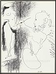 Pablo Picasso: Der Maler und sein Modell, 1964, Original-Lithographie