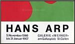 Hans Arp (Jean Arp): Galerie im Erker, 1966 St. Gallen II, Original-Lithographie | Ausstellungsplakate | Werke
