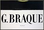 Georges Braque: Original-Ausstellungsplakat 'Theogonie', Galerie Maeght 1954, mit dem Druckvermerk von Mourlot