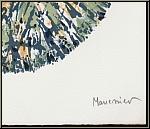 Alfred Manessier: Lithographie 'Schneeball' Boule de neige 1972, handsigniert, Arches Bütten - Signatur